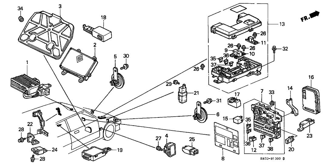 1988 Honda Civic Fuse Box - Wiring Diagram Schema