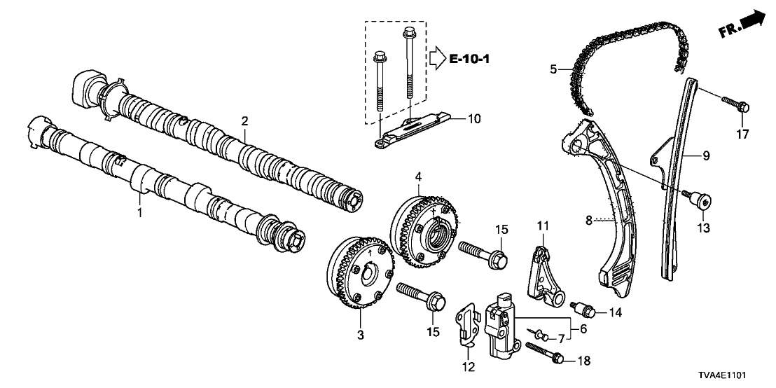 Superb 14110 6B2 A00 Genuine Honda Camshaft In Wiring Database Gramgelartorg