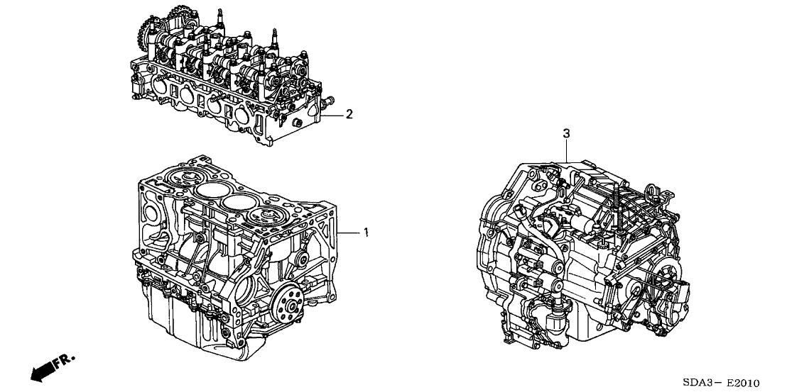 2004 Honda Accord 4 Door Ex Ka 5at Engine Assy