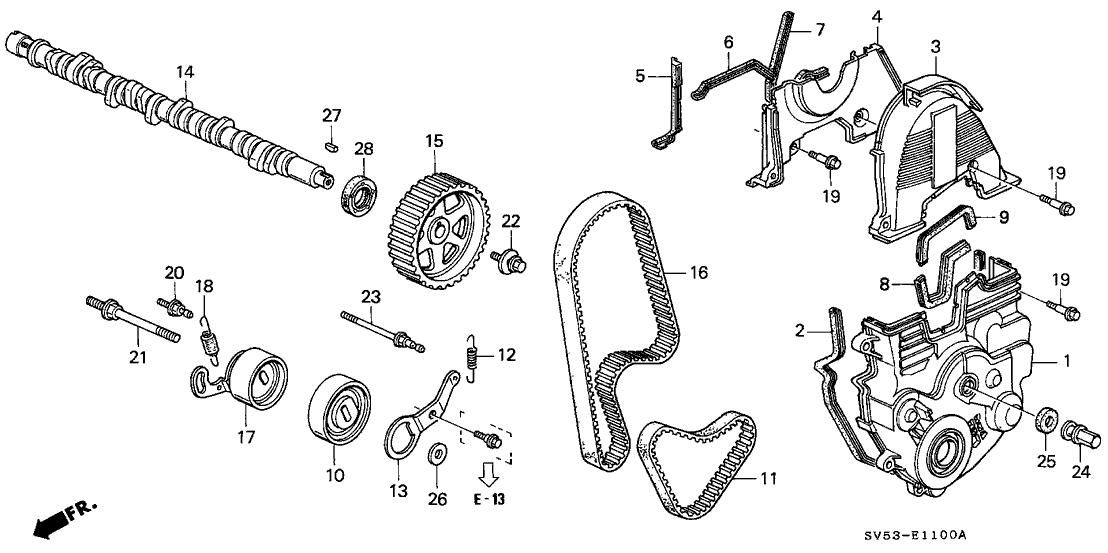 11810-P0A-A00 - Genuine Honda Cover, Timing Belt (Lower)