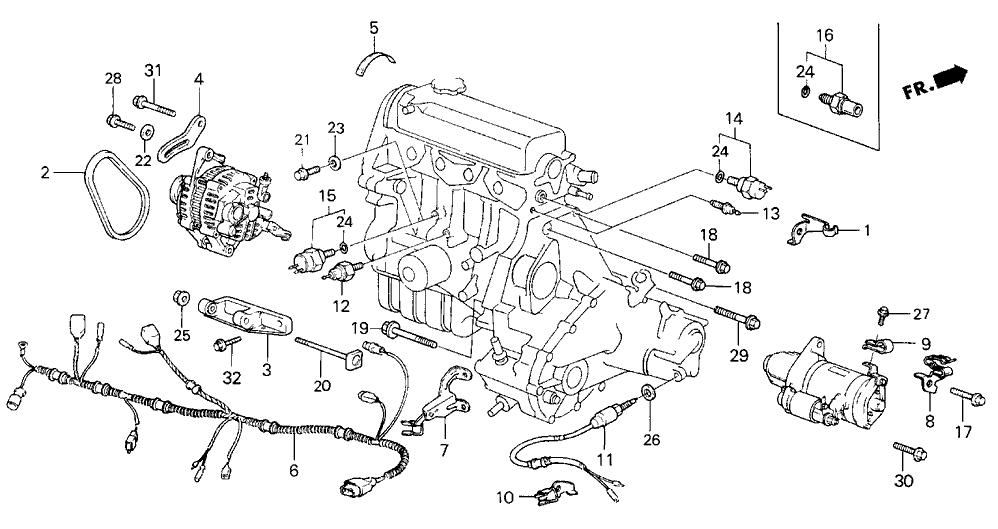 [DIAGRAM_3ER]  32110-PE1-662 - Genuine Honda Sub-Wire, Engine | 1986 Honda Civic Engine Diagram |  | Honda Parts