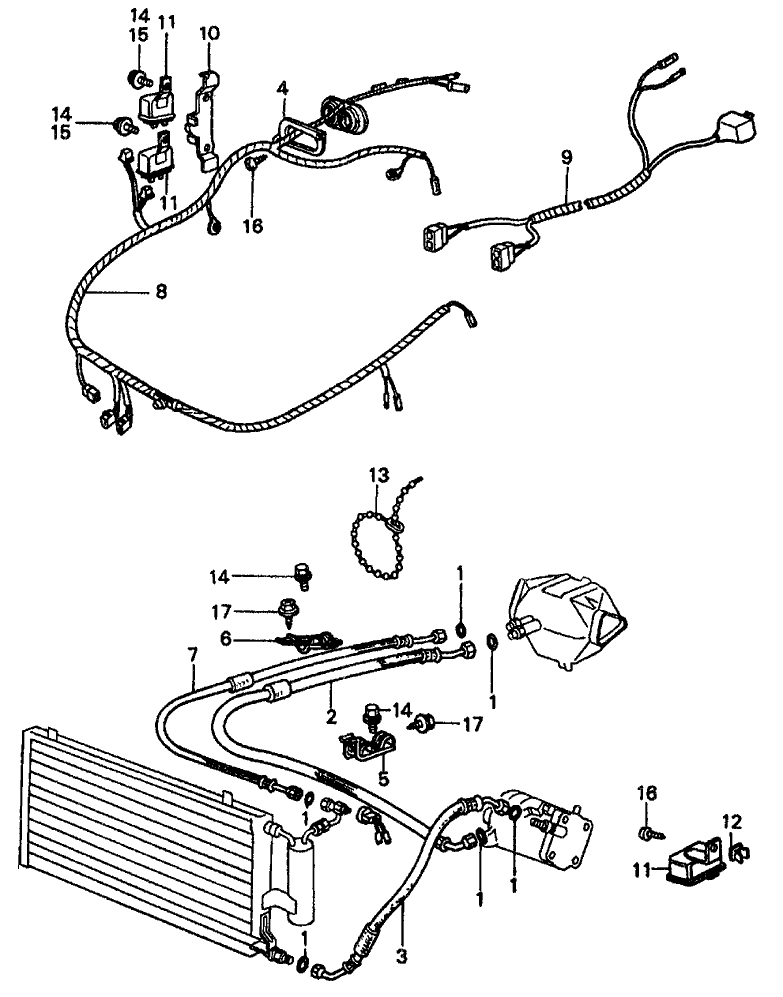 38710-SA0-672 - Genuine Honda Wire Harness, Air Conditioner on