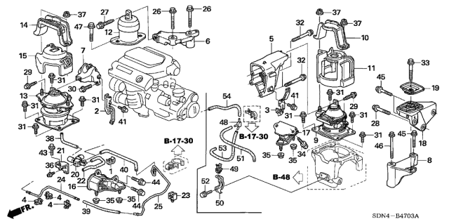 [DIAGRAM_3ER]  2006 Honda Accord 2 Door EX (V6) KA 5AT Engine Mounts (V6) | 2006 Honda Accord Engine Diagram |  | Honda Parts Now