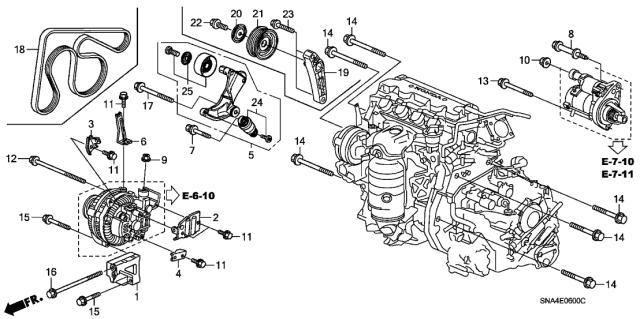 Genuine Honda 31170-RWK-025 Auto Tensioner Assembly