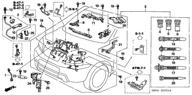 [SCHEMATICS_49CH]  31125-RDJ-A00 - Genuine Honda Cable, Alternator | 2005 Honda Pilot Engine Diagram |  | Honda Parts Now