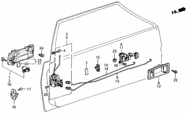 Genuine Honda 75516-SB3-003ZH Handle Case