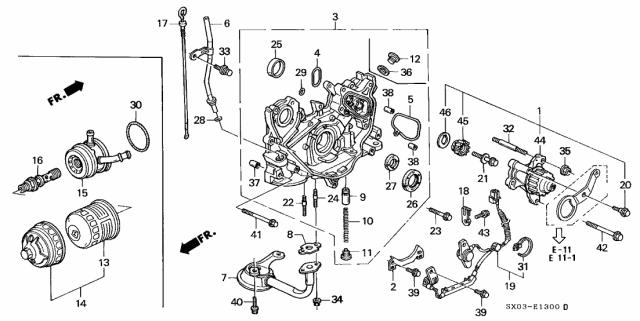 [ZHKZ_3066]  15500-PT6-003 - Genuine Honda Cooler, Engine Oil (TSuchiya)   1997 Honda Odyssey Engine Diagram      Honda Parts Now
