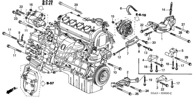 11960-PLE-900 - Genuine Honda Stiffener, RR. EngineHonda Parts Now