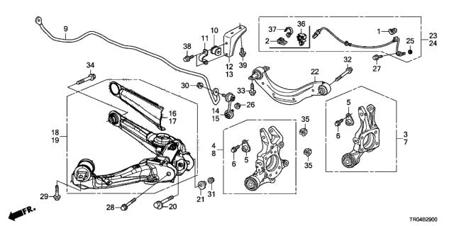 Genuine Honda 52371-TR7-A52 Trailing Arm
