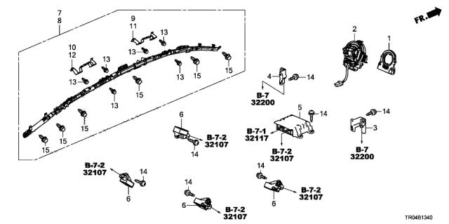 [FPER_4992]  77900-TR0-A11 - Genuine Honda Reel Assy., Cable | Honda 2 7 Engine Diagram |  | Genuine Honda Parts