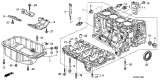 Related Parts for Honda CR-V Oil Pan - 11200-RAA-A00