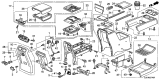 Related Parts for Honda Ridgeline Armrest - 83440-SJC-A02ZF