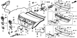 Related Parts for Honda Civic Tailgate Lock - 74851-TR0-A11