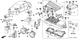 Related Parts for Honda Accord Hybrid Horn - 38100-SDB-A02
