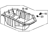 Honda CR-V Oil Pan - 11200-RZA-000