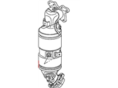Honda Catalytic Converter - 18160-RNA-A00