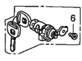 Honda Door Lock Cylinder - Guaranteed Genuine