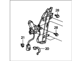 Honda Window Regulator - 72250-S84-A03