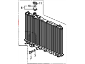 Honda Civic Radiator - 19010-R1B-A51