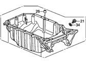 Honda CR-V Oil Pan - 11200-R5A-000