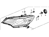 Honda Fit Headlight - 33100-T5A-A01