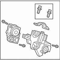 Genuine Honda 06350-TR0-A21 Ignition Key Cylinder Set